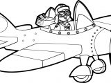 Best Airplane Drive Children Coloring Page