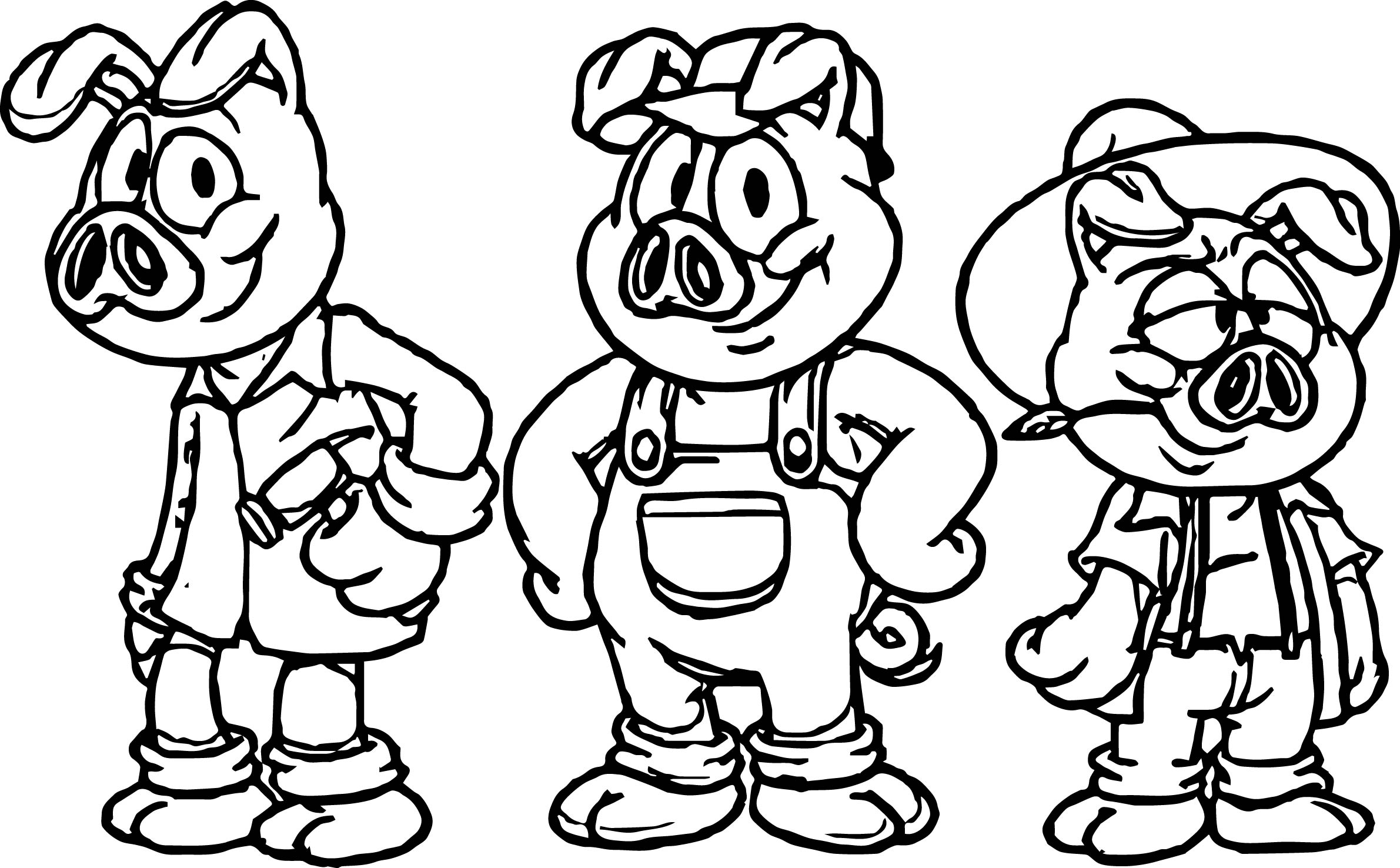 Uncategorized Three Little Pigs Coloring best cartoon 3 little pigs coloring page wecoloringpage page