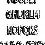 Bold Abc Alphabet Teach Coloring