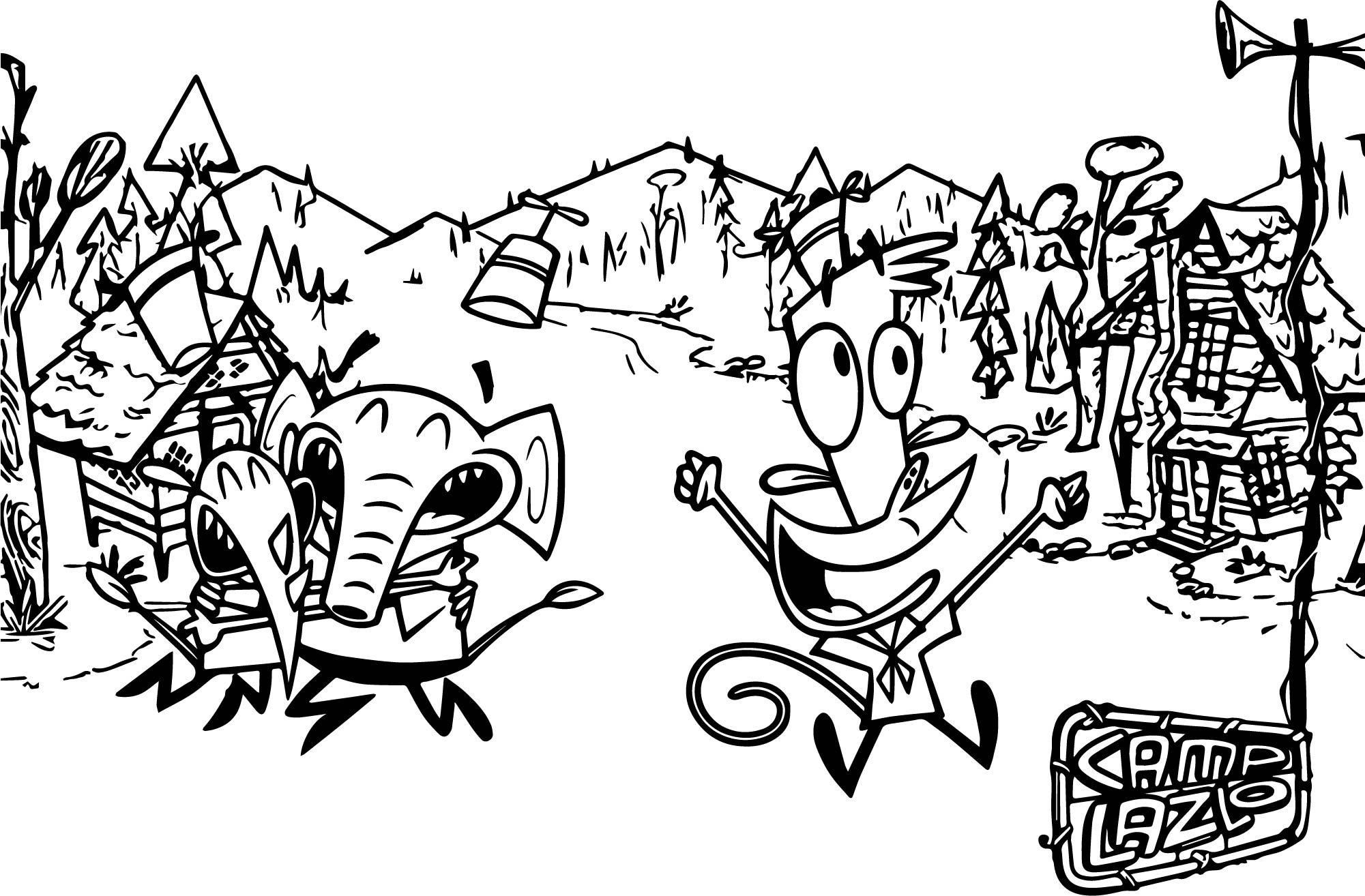 camp lazlo coloring page wecoloringpage