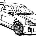 Car Renault Coloring Page