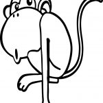 Good Cartoon Animals Kids Monkey Coloring Page