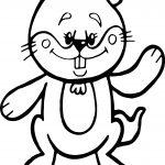 Cartoon Groundhog Coloring Page