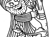Cartoon Zacchaeus Jesus Coloring Page