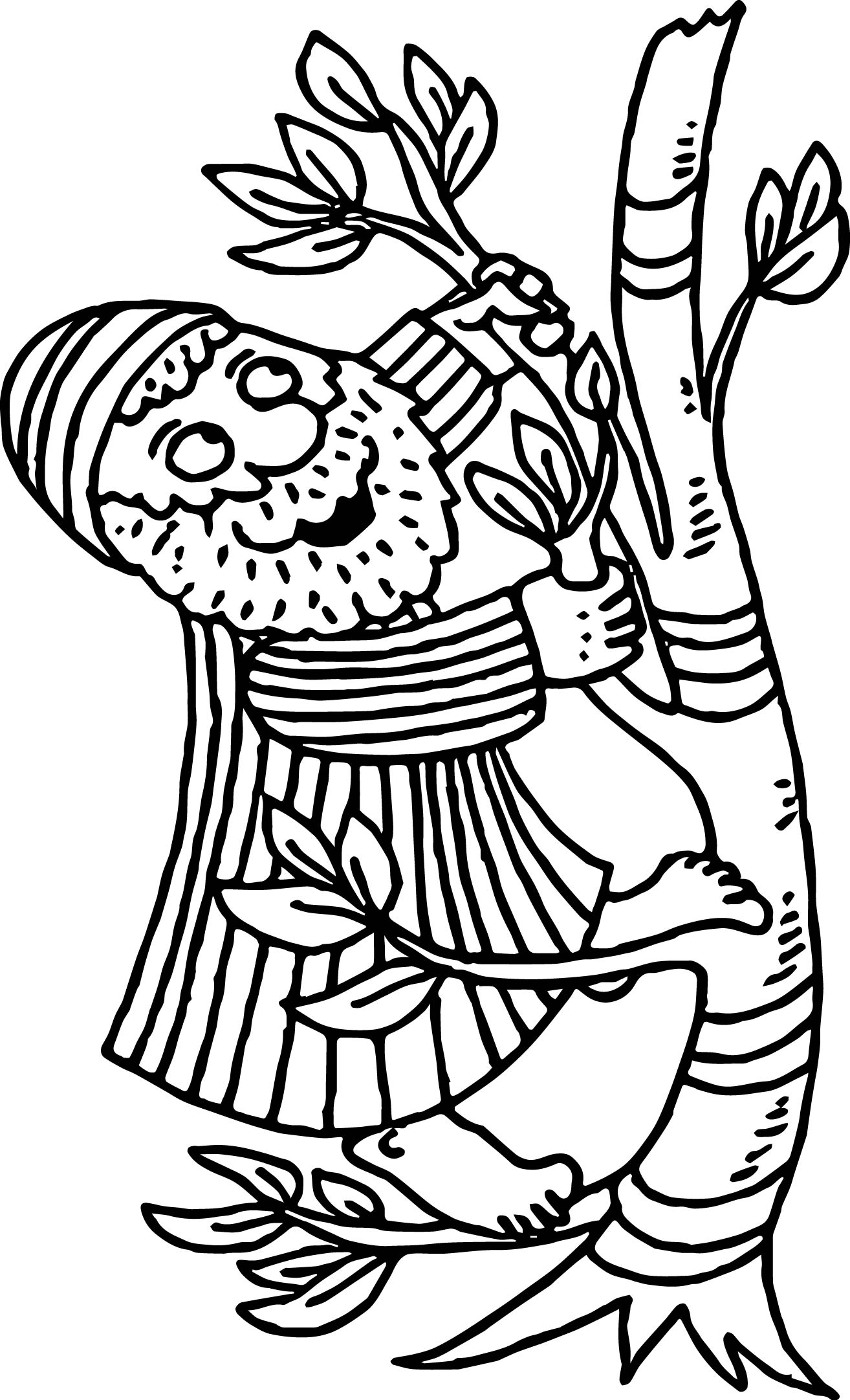Coloring pages zacchaeus - Cartoon Zacchaeus Jesus Coloring Page