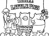 Celebrity 3 Little Pigs Coloring Page