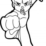 Chhota Bheem Punch Coloring Pages