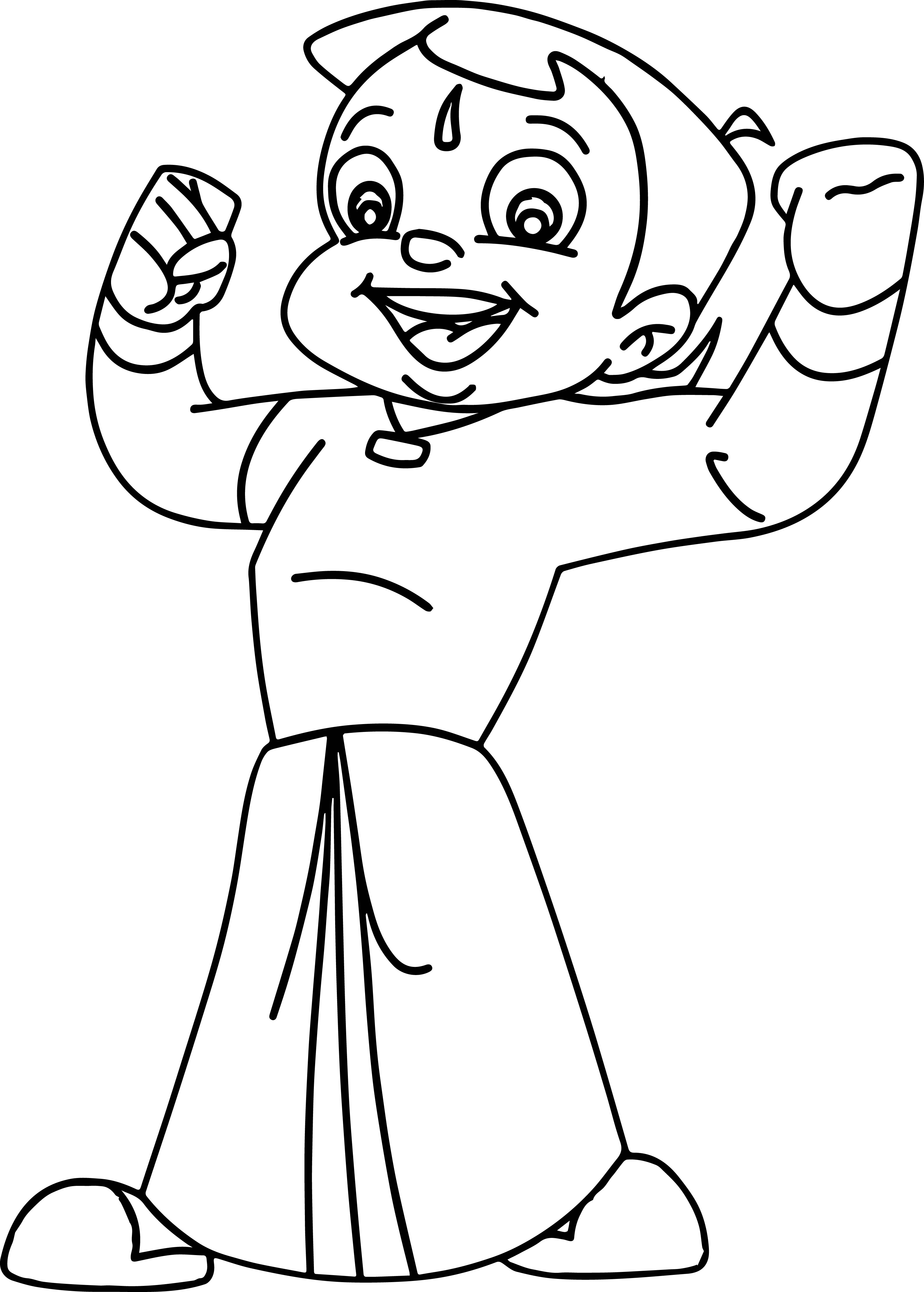 Chhota Bheem Strong Coloring Pages
