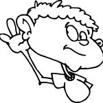 Child Ear Sense Coloring Page