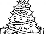 Christmas Tree Printable Coloring Page