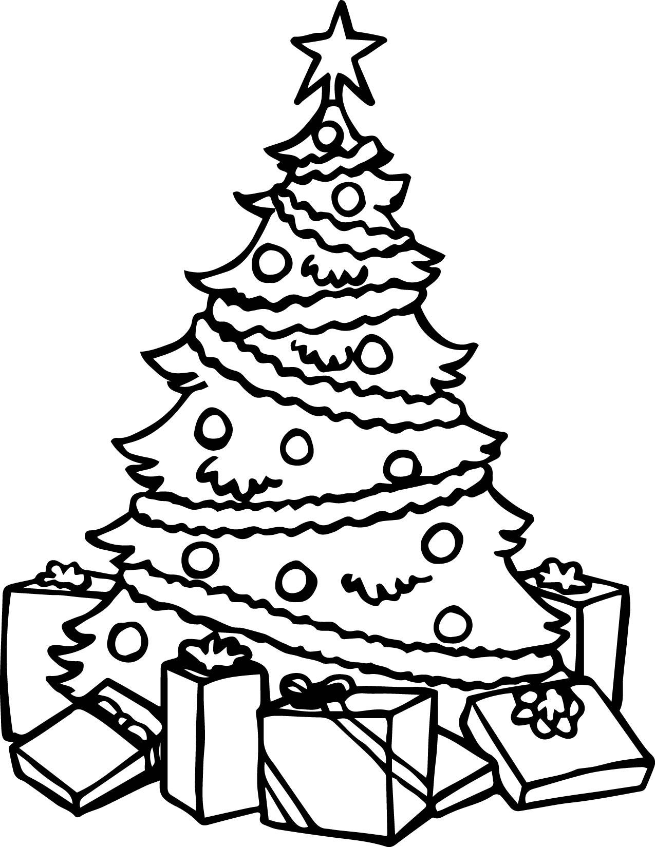 Christmas Tree Printable Coloring Page