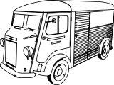 Citroen Type H Minibus Car Coloring Page