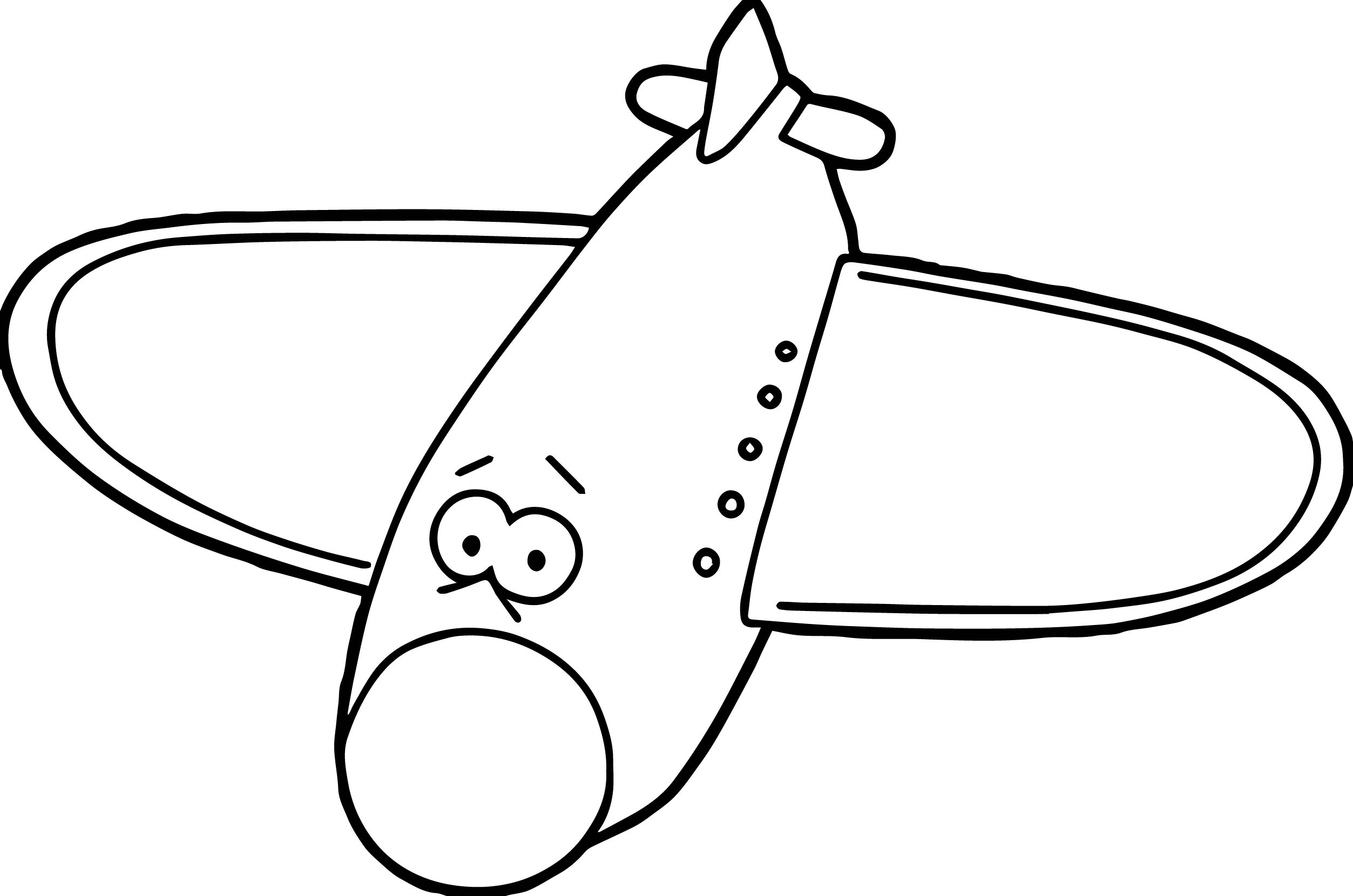 comic cartoon airplane coloring page wecoloringpage