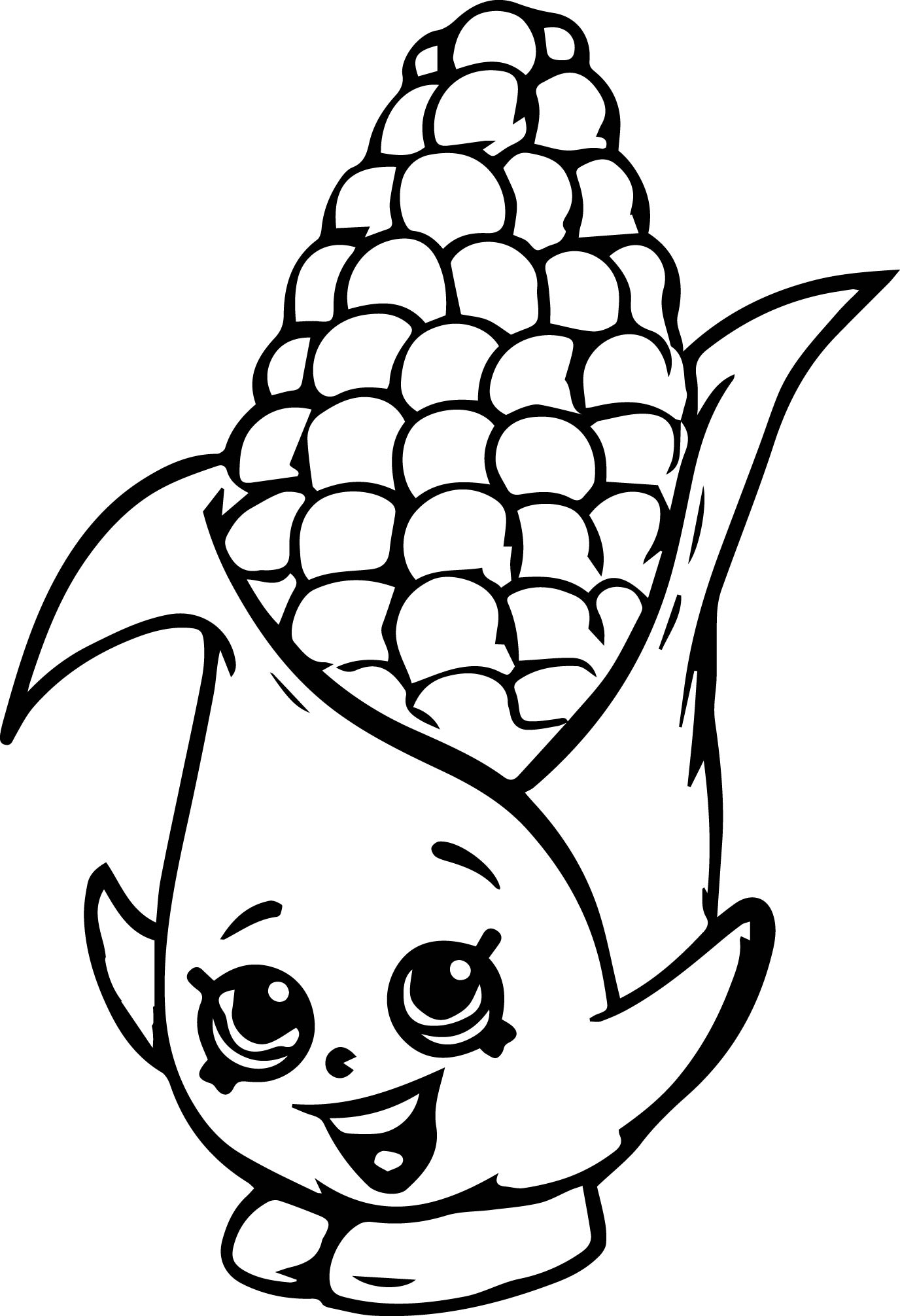 Corny Cob Coloring Page Wecoloringpage Com
