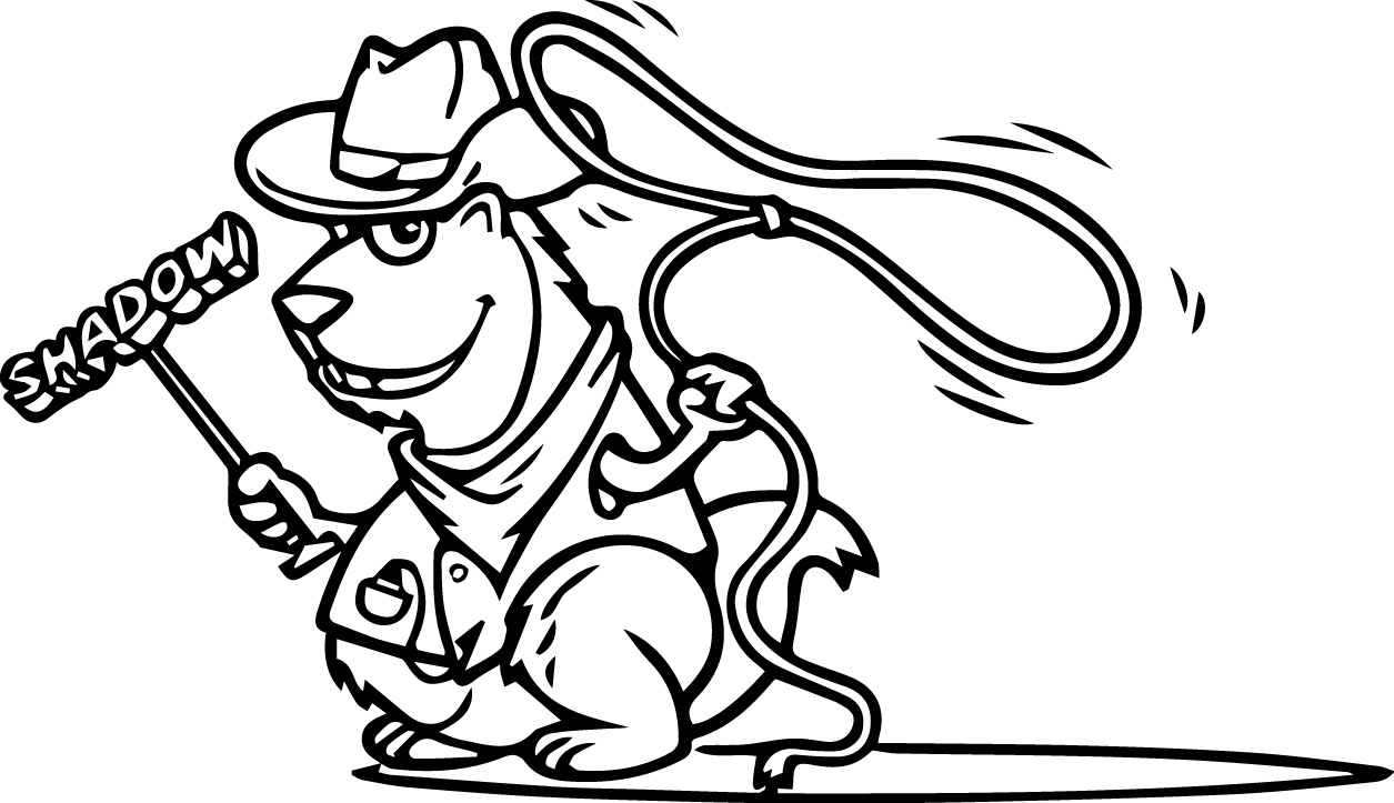 cowboy groundhog cartoon character mascot shadow trailer coghill coloring page