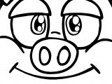 Crazy Face Boy Little Pigs Coloring Page