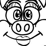Crazy Face Girl Little Pigs Coloring Page