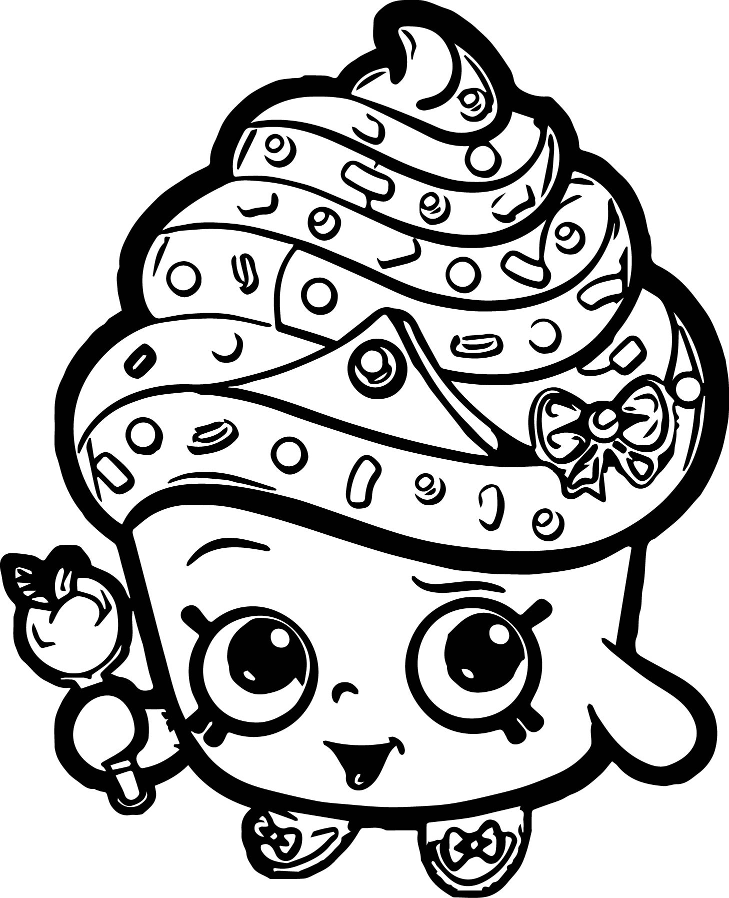 Coloring games of shopkins - Cupcake Queen Shopkins Coloring Page