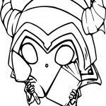 Cute Minion Halloween Coloring Page