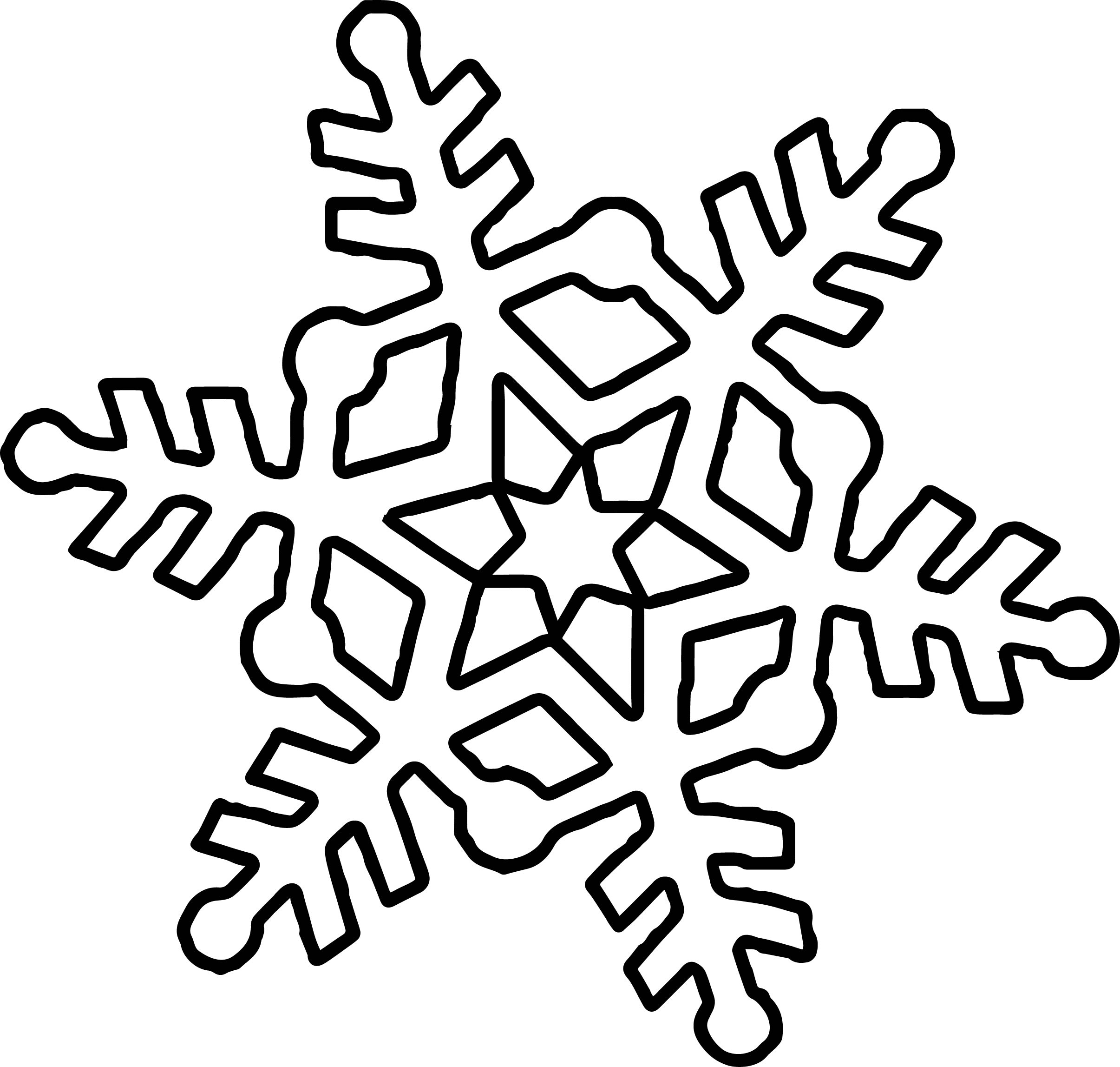 cute snowflake coloring page wecoloringpage