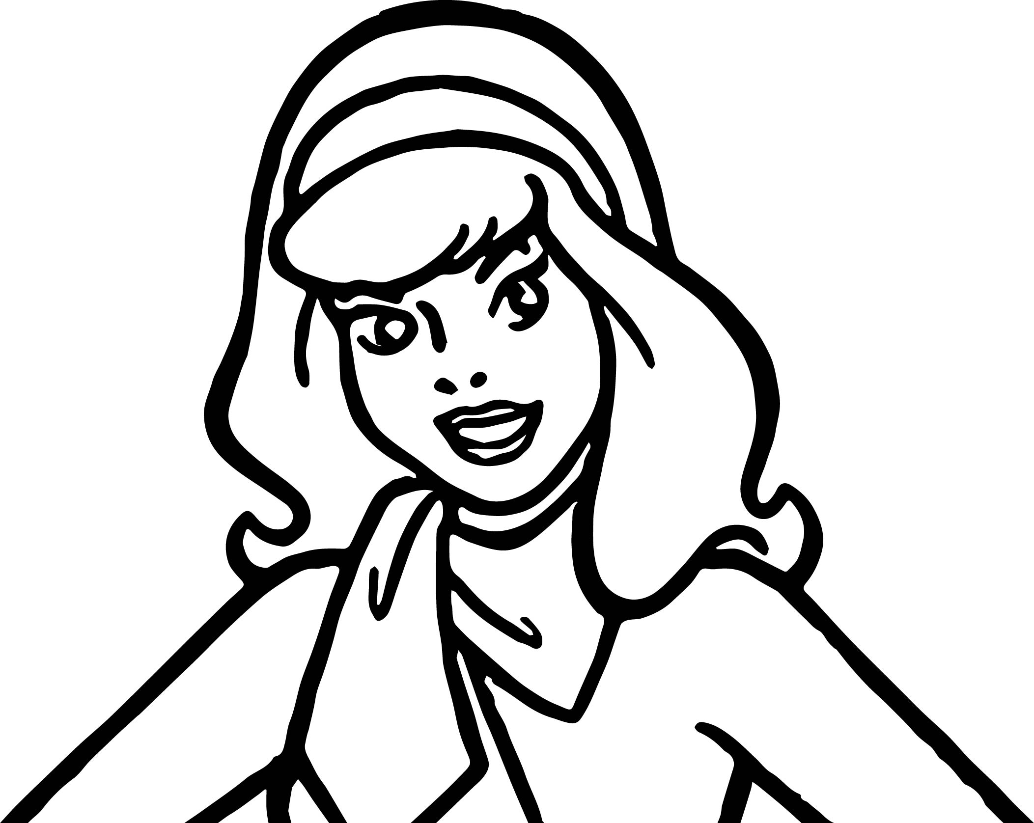 daphne scooby doo make up coloring page