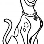 Dog Scooby Doo Coloring Page