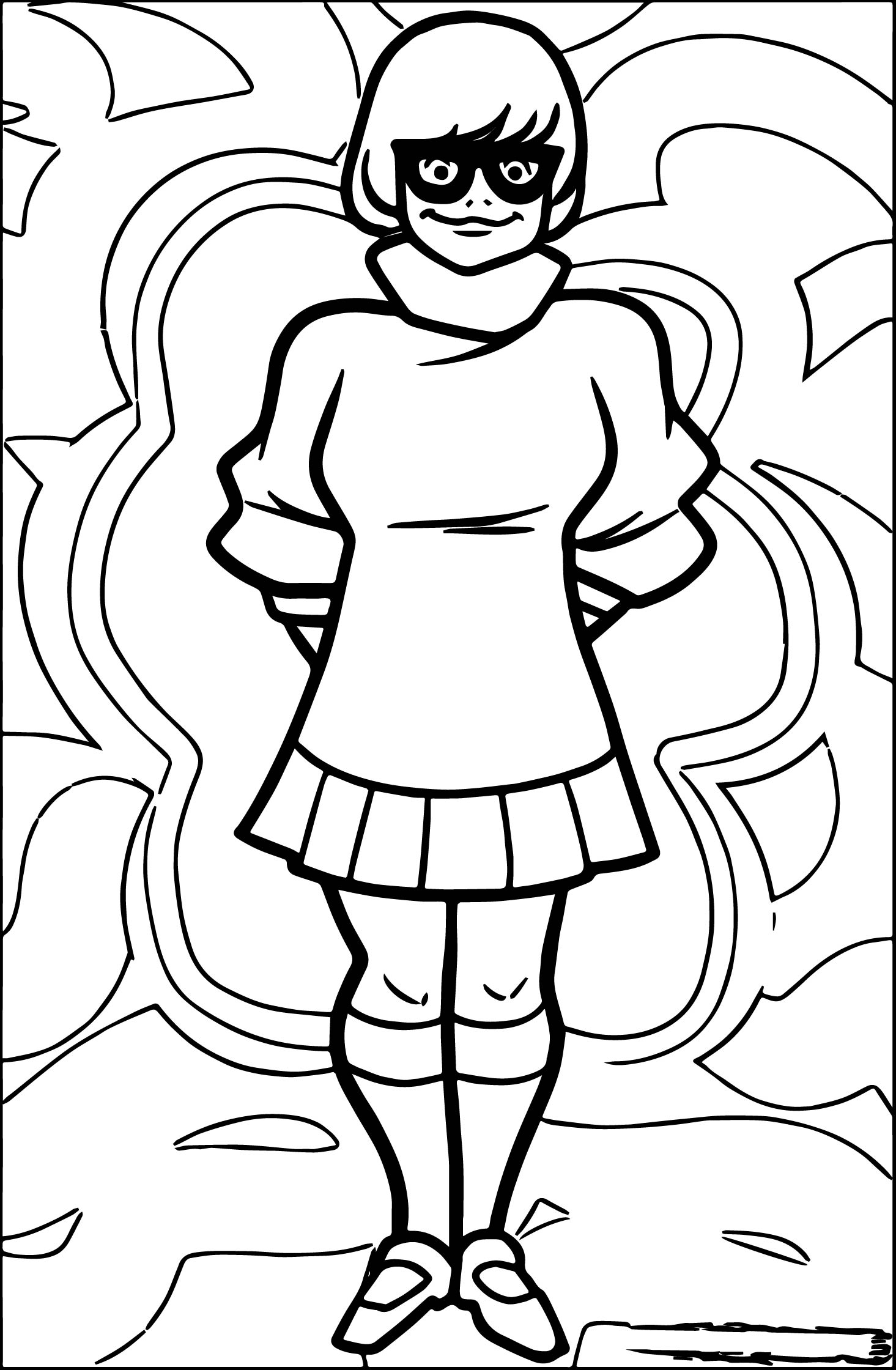 Scooby Doo Coloring Pages Velma