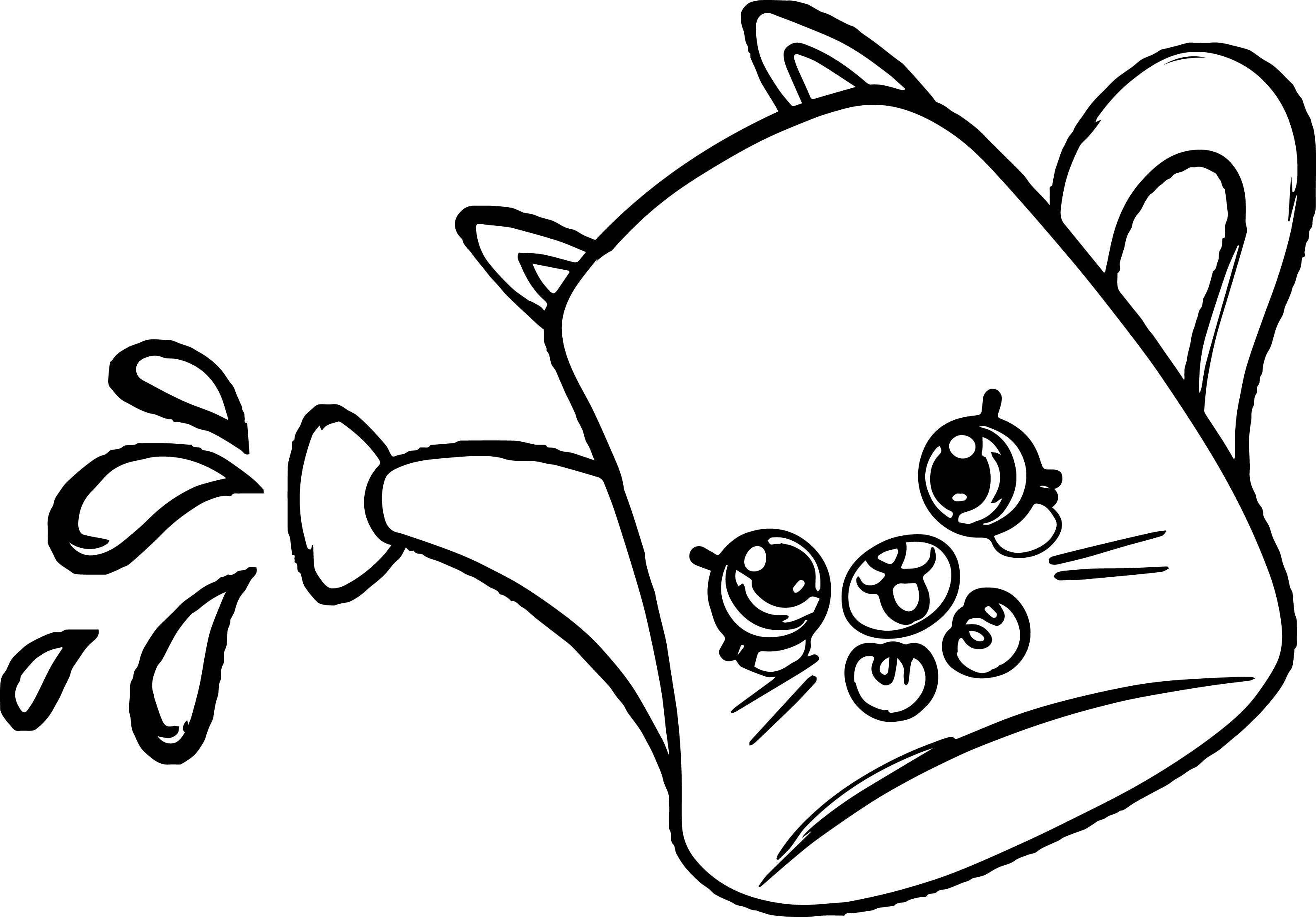 drips shopkins coloring page