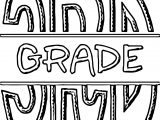FSF Split 3rd Grade 3rd Grade Coloring Page