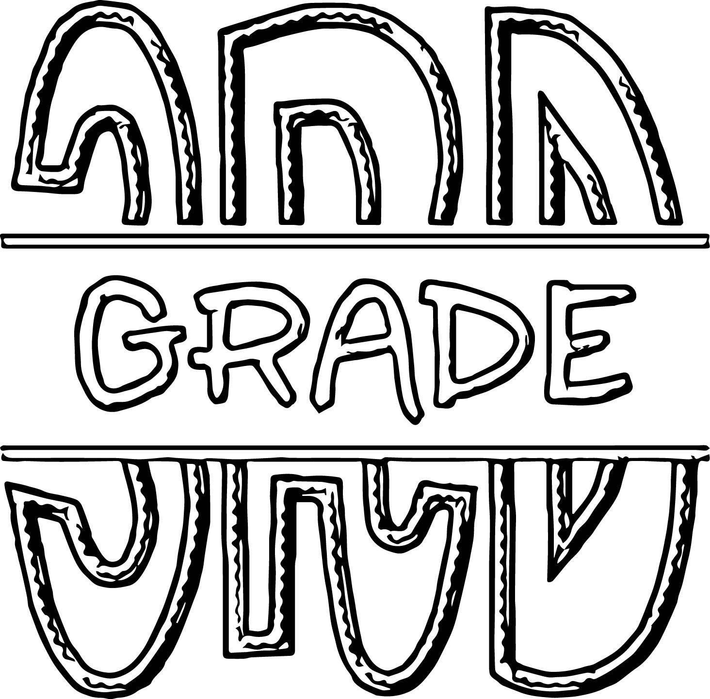 FSF Split 3rd Grade 3rd Grade Coloring Page