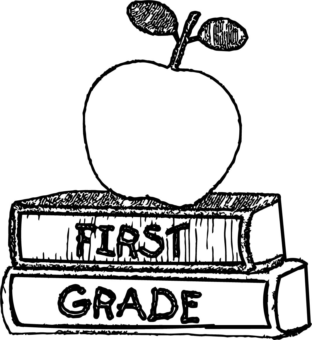 first grade book coloring page