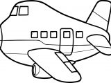 Flattened Airplane Coloring Page