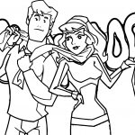 Fred Daphne Scooby Doo Mystery Incorporated Coloring Page