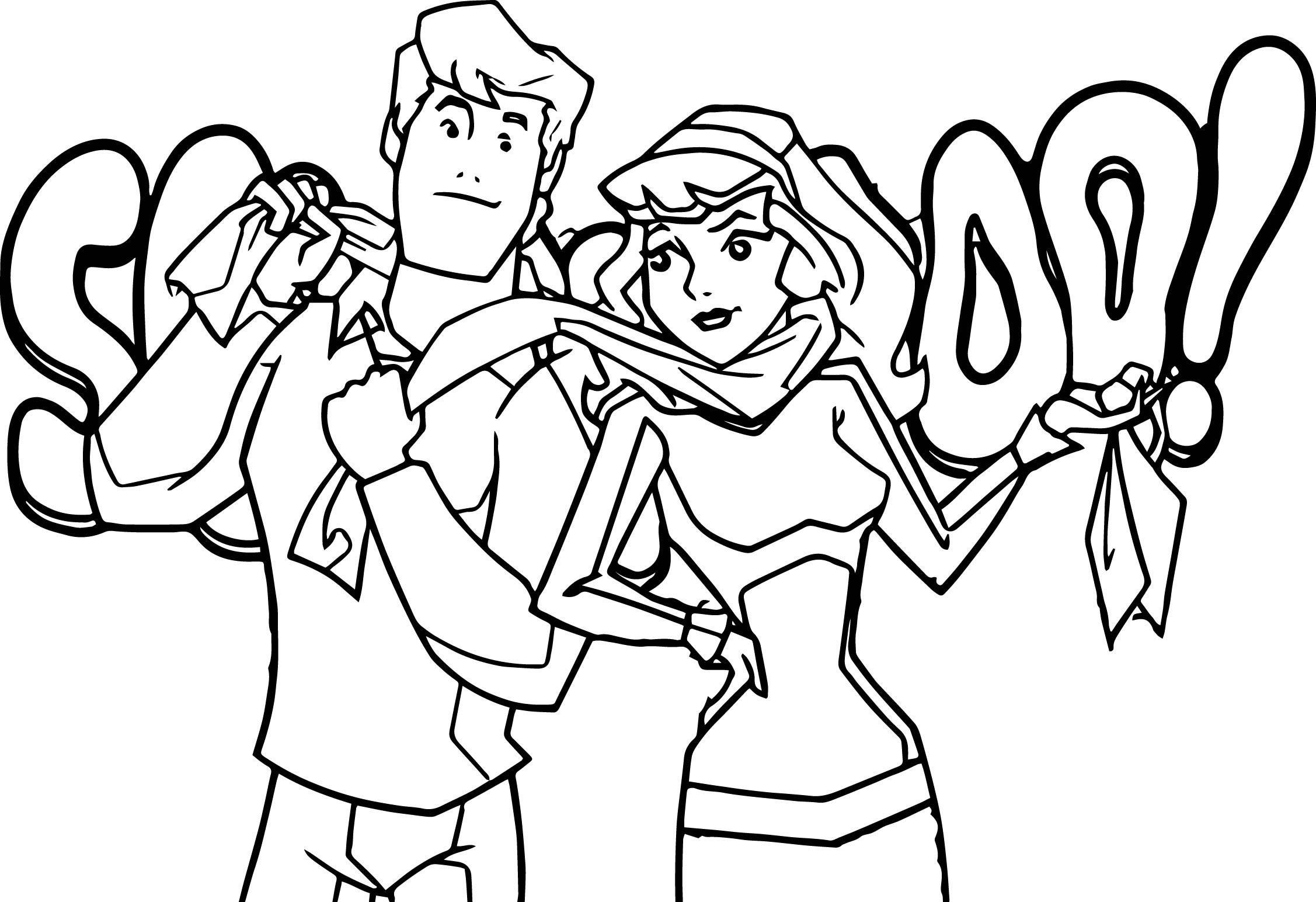 Scooby free coloring pages for Scooby doo christmas coloring pages