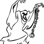 Ghost Scooby Doo Coloring Page