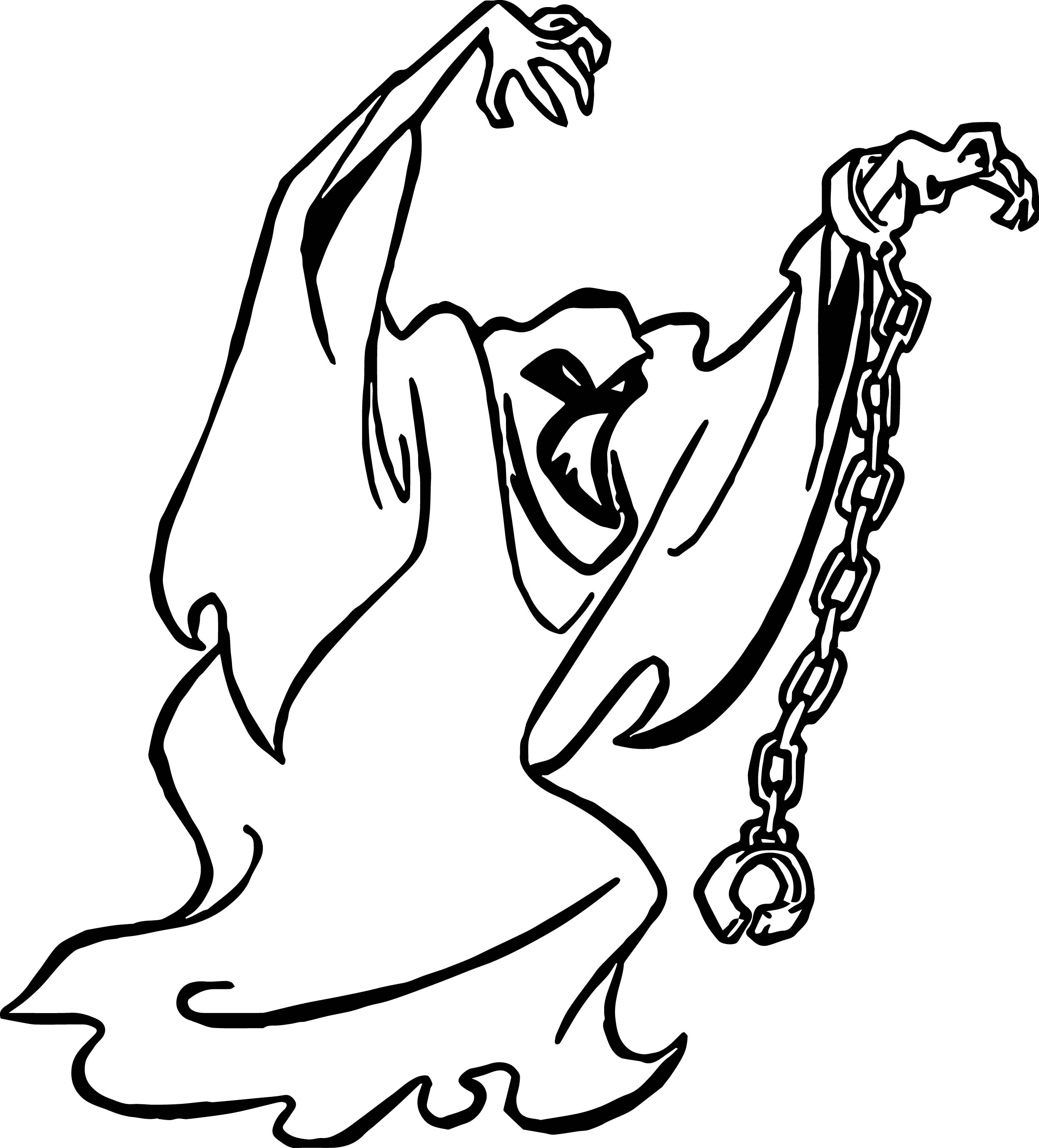 ghost scooby doo coloring page - Scooby Doo Pictures To Colour