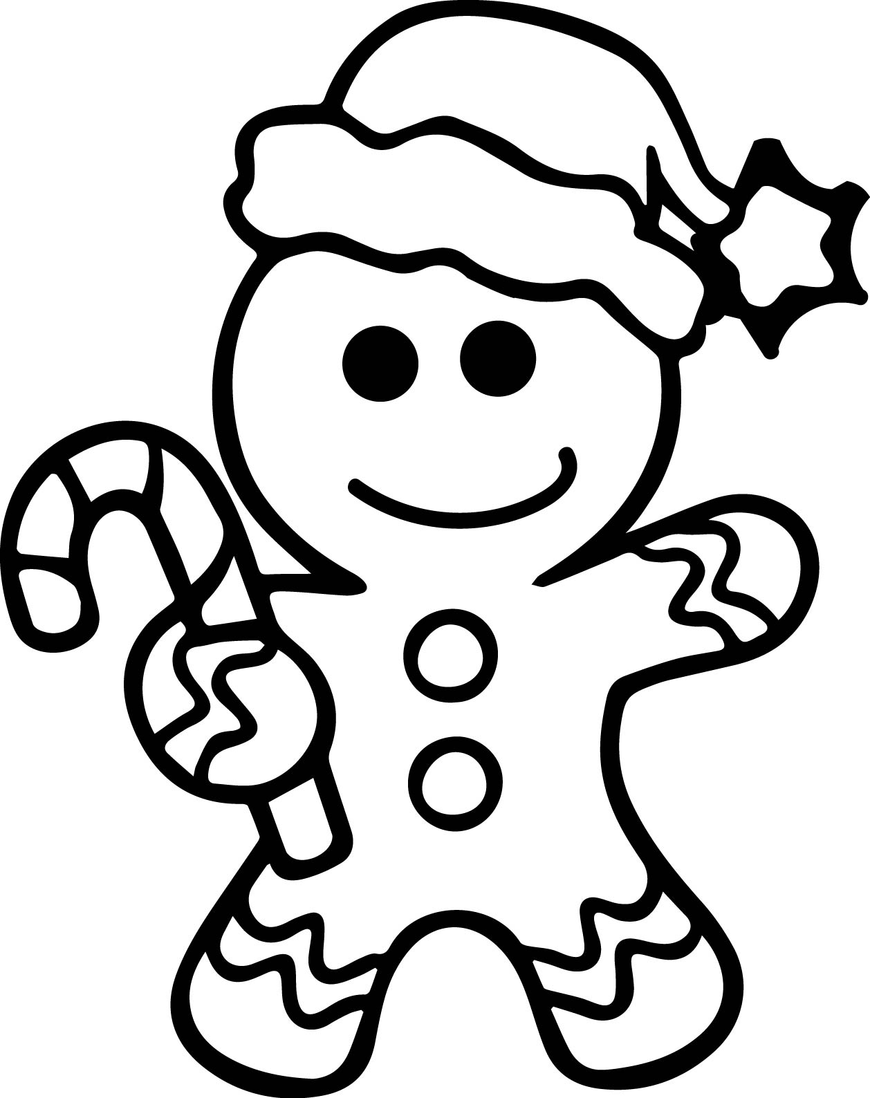 Gingerbread man coloring page for Gingerbread house coloring pages