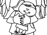 Girl Kids And Toy Coloring Page