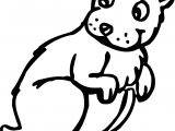 Groundhog Back Look Coloring Page