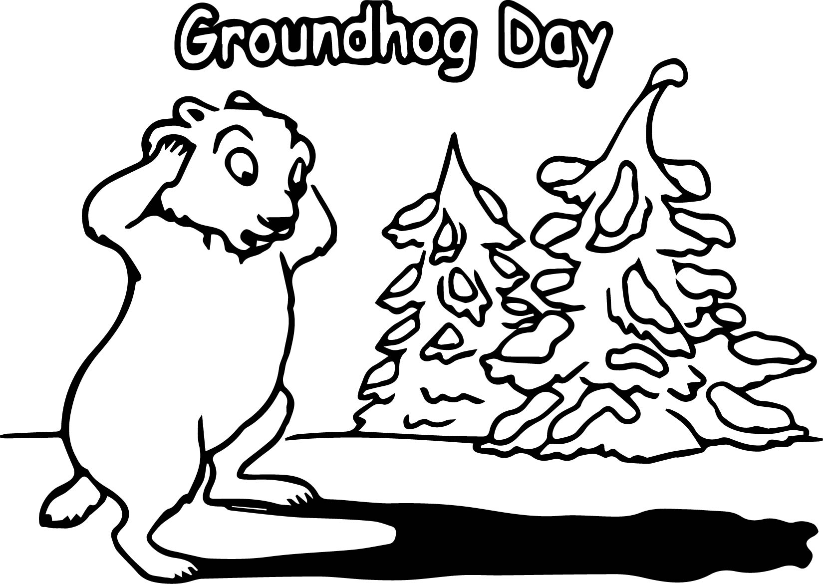 Groundhog day coloring page for Groundhog day coloring page