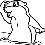 Groundhog Look Far Coloring page