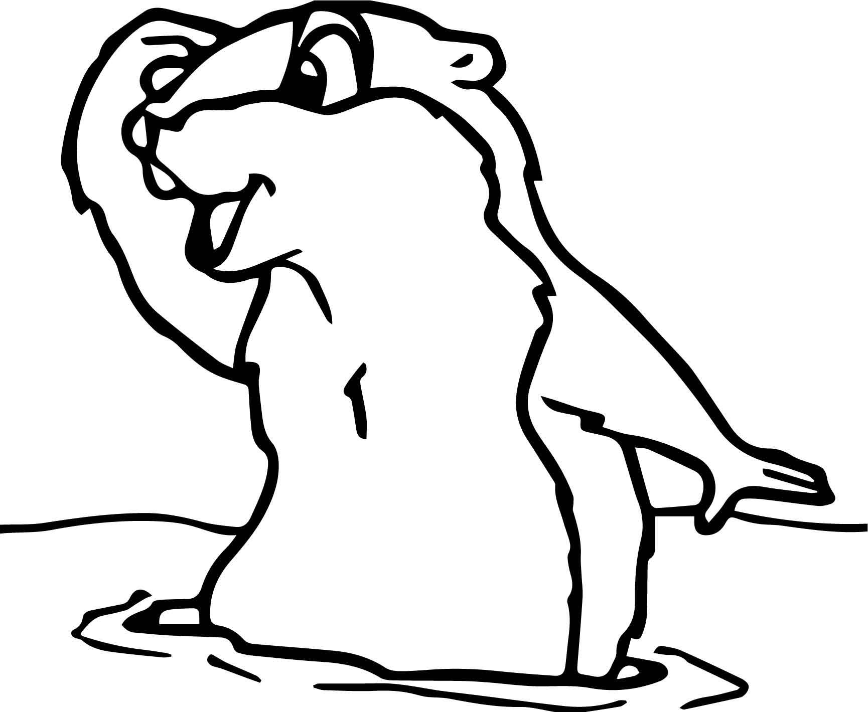 Groundhog Look Far Coloring page