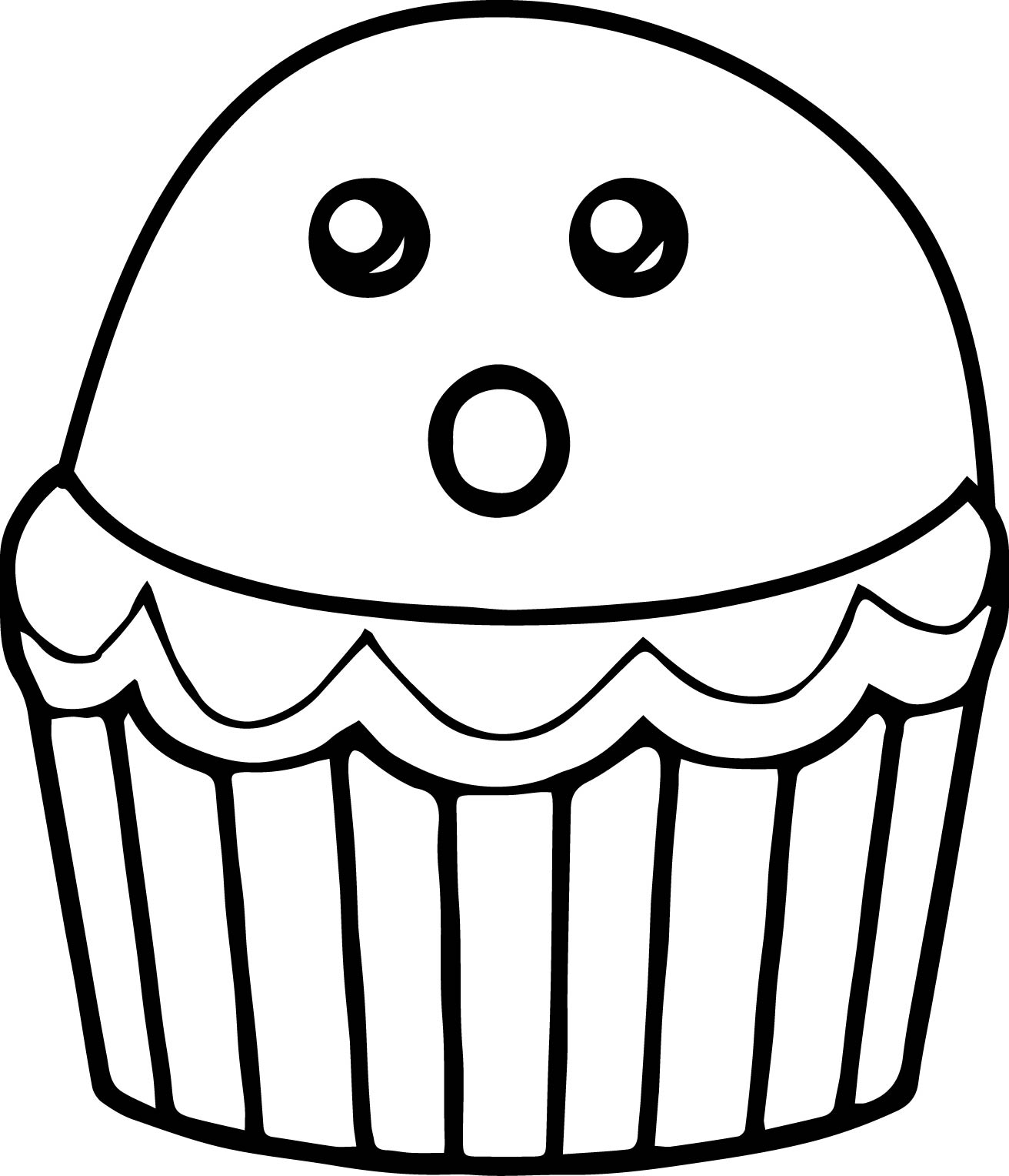 Halloween cupcake coloring page for Cupcake color pages