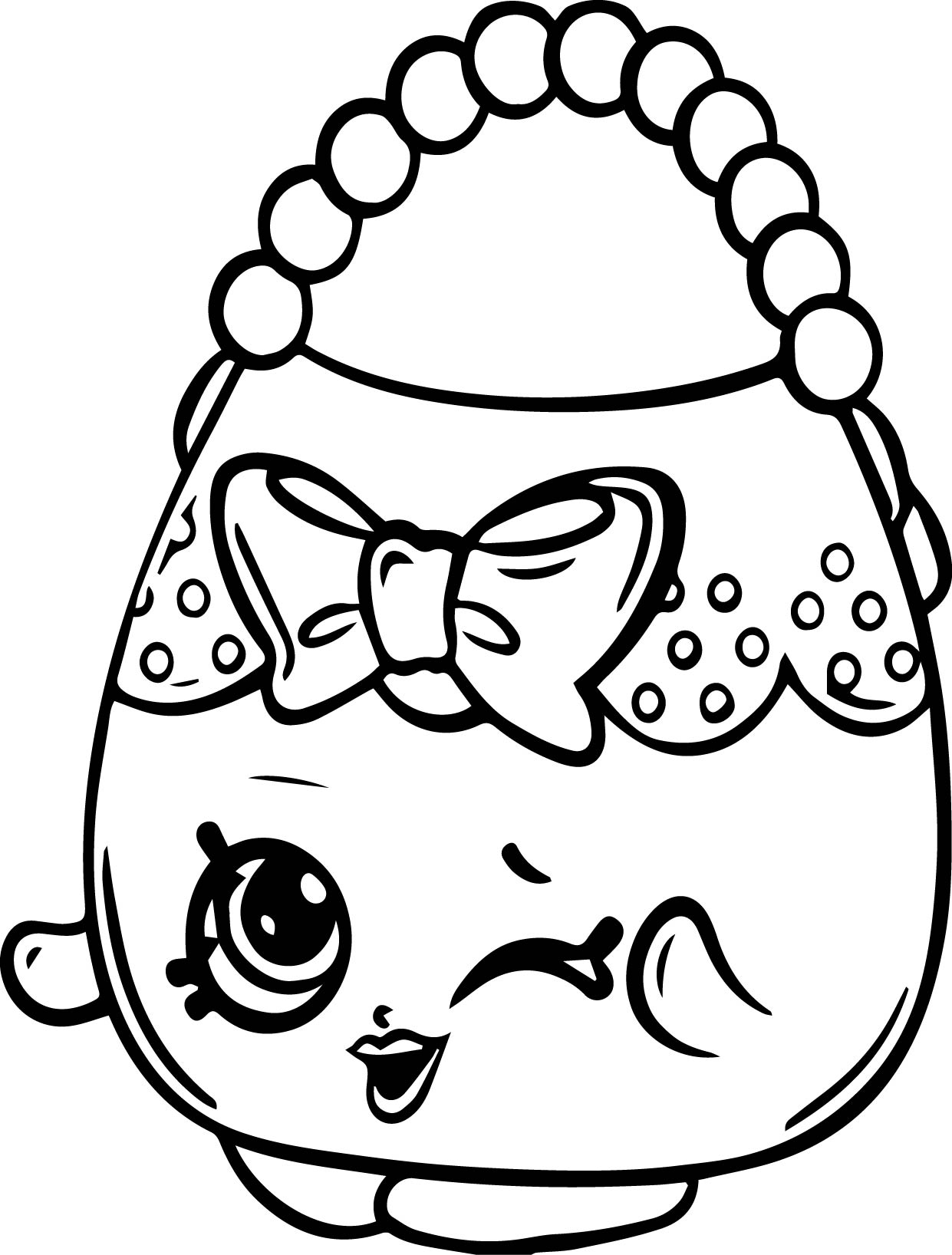 Shopkins color sheets - Handbag Harriet Shopkins Coloring Page