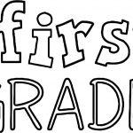 Hello 1st Grade School Text Coloring Page
