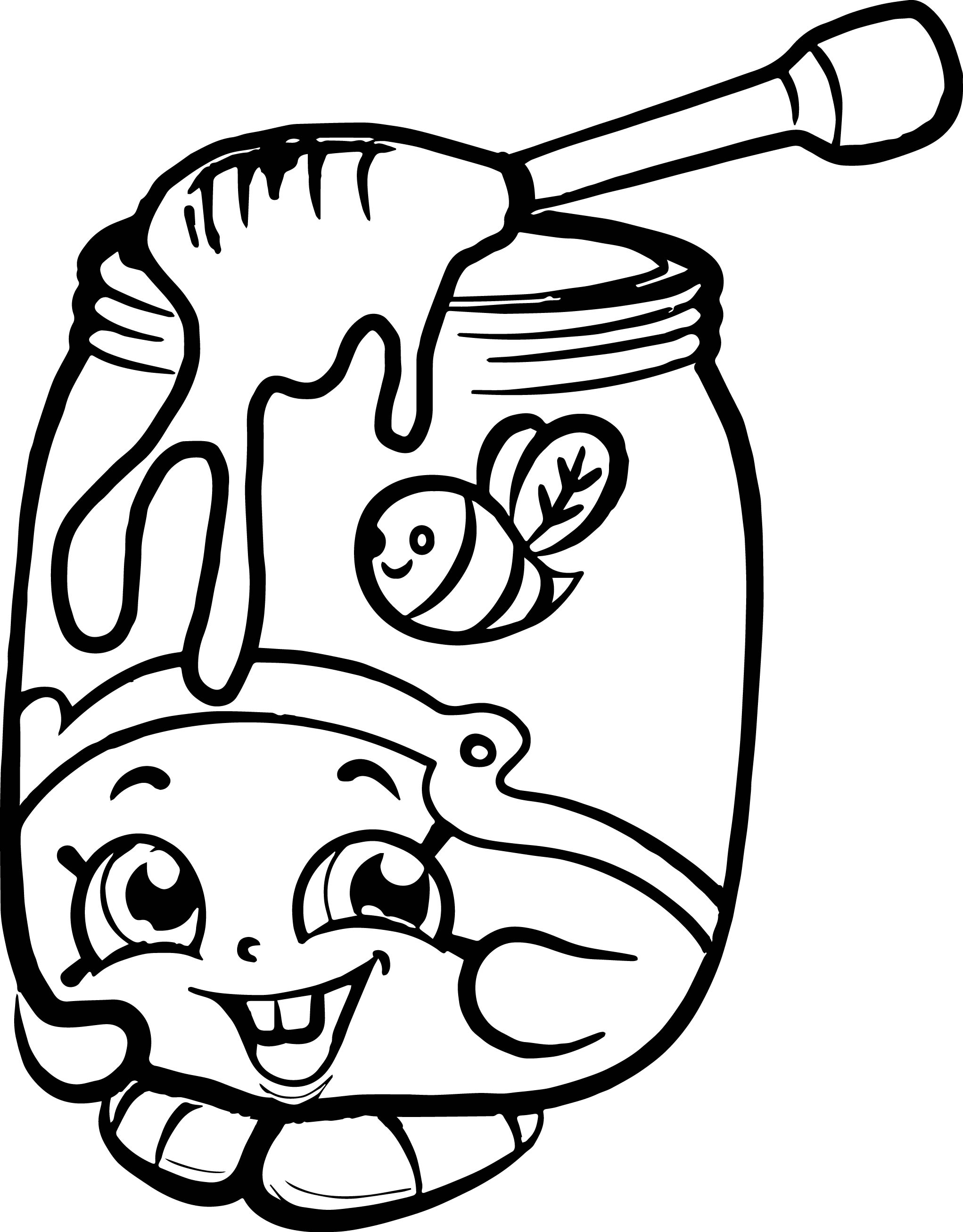 Coloring games of shopkins - Honeeey Shopkins Coloring Page