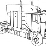 International 9600 Long Trailer Truck Coloring Page