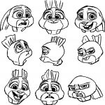 Judy Hopps Bunny Zootopia Face Coloring Page