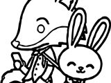Judy Hopps Nick Wilde Zootopia Basic Coloring Page