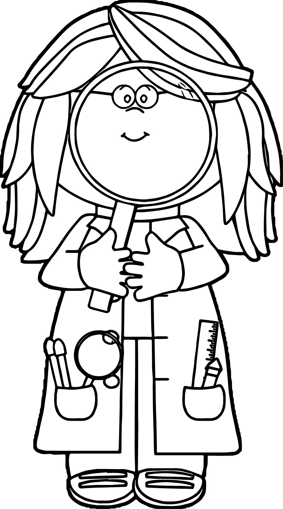 female scientist coloring page coloring pages